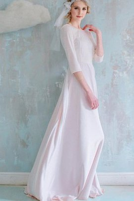 Flowers Modest A-Line Simple Chiffon Bridesmaid Dress