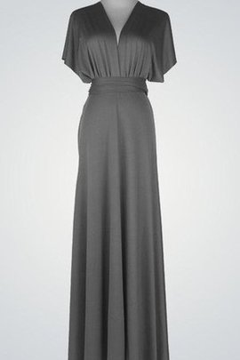 Ruched V-Neck Elegant & Luxurious Pleated Modest Bridesmaid Dress