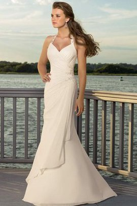 Beading Sweep Train Sweetheart Ruched Elegant & Luxurious Wedding Dress