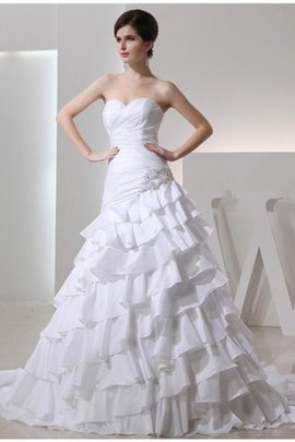 Sweetheart Long Appliques Taffeta A-Line Wedding Dress
