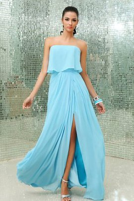 Strapless Chic & Modern A-Line Chiffon Evening Dress
