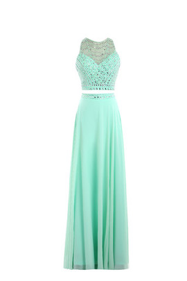 Chic & Modern Romantic Empire Waist Jewel Accented Church Prom Dress