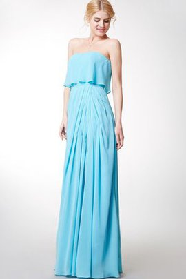 Long Sleeveless Chiffon Pleated Simple Bridesmaid Dress