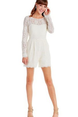 Lace Fabric Zipper Up Chic & Modern Scoop Vintage Party Dress