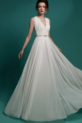 Appliques Elegant & Luxurious Chiffon A-Line Beading Wedding Dress