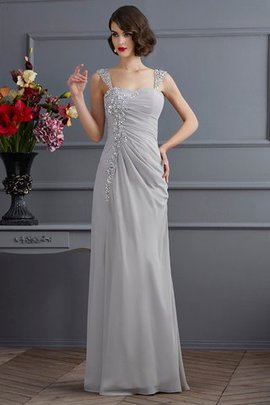 Floor Length Chiffon Zipper Up Wide Straps Prom Dress