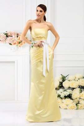 Satin Empire Waist Draped Mermaid Bridesmaid Dress