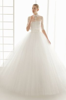 Misses Tulle Overlay Ball Gown Pompous Wedding Dress