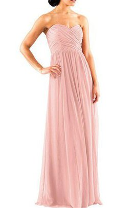 Floor Length Chiffon Ruched A-Line Criss-Cross Bridesmaid Dress
