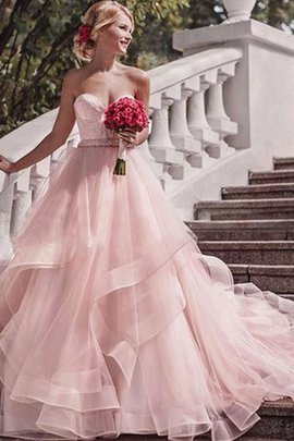 Apple Chic & Modern Attractive Organza Outdoor Ball Gown Colorful Wedding Dress