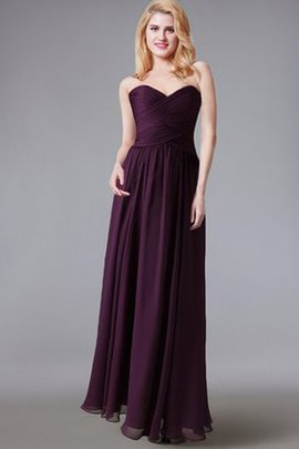 Pleated Long Strapless Sleeveless Ruffles Bridesmaid Dress