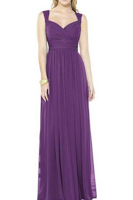 Floor Length Elegant & Luxurious Pleated Ruched Criss-Cross Bridesmaid Dress