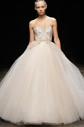 Ball Gown Lace Sweep Train Beading Embroidery Wedding Dress