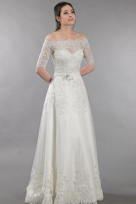 Backless A-Line Appliques Elegant & Luxurious Wedding Dress