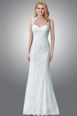 Thin Sexy Sheer Back Sweep Train Lace Fabric Wedding Dress