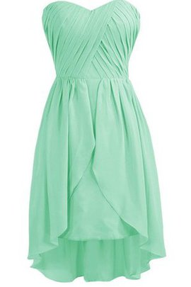 Sleeveless Sweetheart Pleated Natural Waist A-Line Bridesmaid Dress
