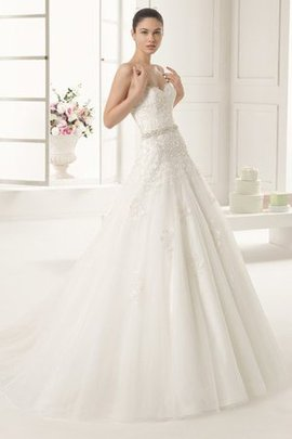 Sweetheart Rectangle Elegant & Luxurious Embroidery Lace-up Wedding Dress