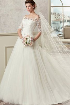 Beach Off The Shoulder Pleated Long A-Line Wedding Dress