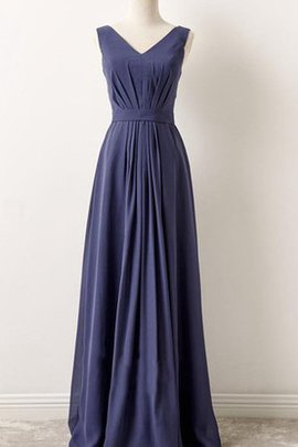 A-Line Sleeveless Chiffon Pleated Simple Bridesmaid Dress