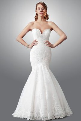 Lace Fabric Zipper Up Thin Sexy Sweep Train Wedding Dress