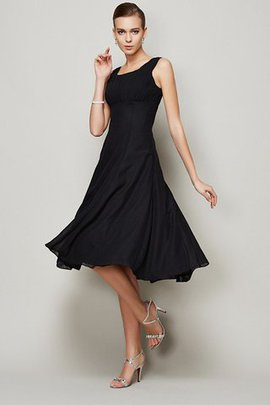 A-Line Draped Short Wide Straps Bridesmaid Dress