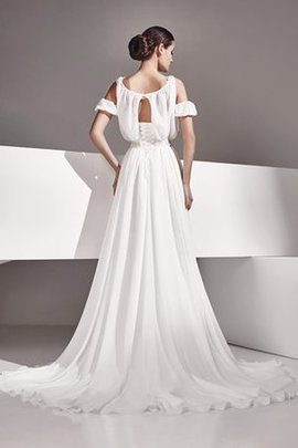 Beach Chiffon Sleeveless Empire Keyhole Back Wedding Dress