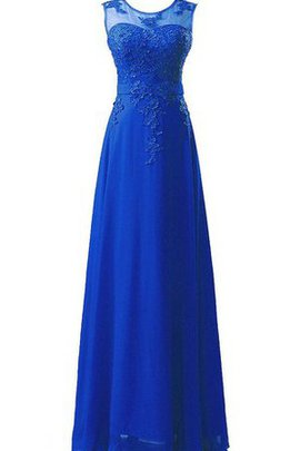 Bateau A-Line Simple Long Elegant & Luxurious Evening Dress