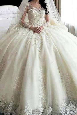 Hourglass Misses Natural Waist Graceful Cathedral Train Church Embroidery Wedding Dress