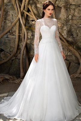 Zipper Up Long Sleeves Elegant & Luxurious Beach Sweep Train Wedding Dress
