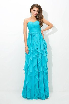 Tiered Sleeveless Natural Waist Long A-Line Bridesmaid Dress