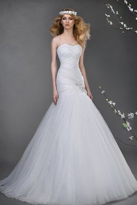 Natural Waist Tulle Floor Length Criss-Cross Lace-up Wedding Dress