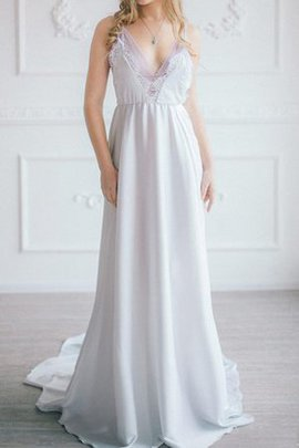 Chiffon A-Line Lace Sleeveless Beach Bridesmaid Dress