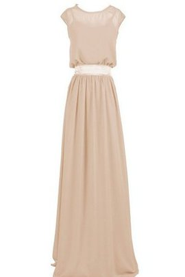 Chiffon Long Sweep Train Sashes A-Line Bridesmaid Dress