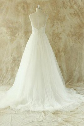 Tulle Beach Floor Length A-Line Vintage Wedding Dress