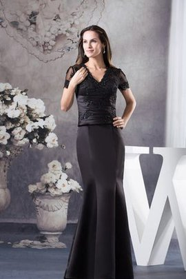 V-Neck Mermaid Honorable Appliques Evening Dress
