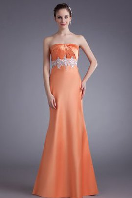 Sleeveless Long A-Line Strapless Evening Dress