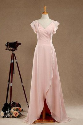 Simple Chiffon Long A-Line Split Front Mother Of The Bride Dress