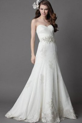 Appliques Sweetheart Mermaid Floor Length Zipper Up Wedding Dress