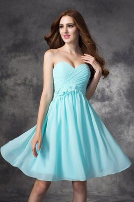 Sleeveless Sweetheart Chiffon Short Natural Waist Bridesmaid Dress