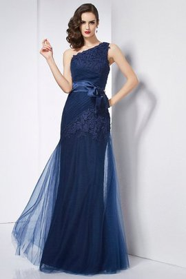 Organza A-Line Satin Floor Length Empire Waist Evening Dress