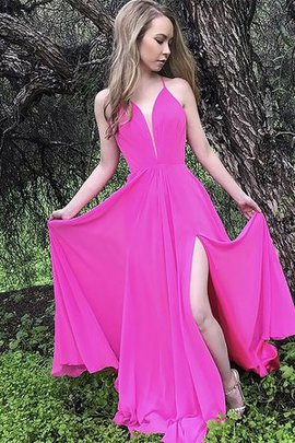 Ruffles Princess Sleeveless A-Line Chiffon Charming Spaghetti Straps Evening Dress