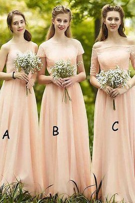 A-Line Chiffon Floor Length Sleeveless Bridesmaid Dress