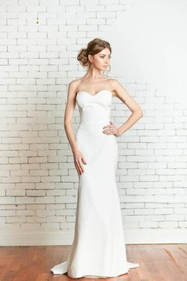 Mermaid Sweetheart Sleeveless Court Train Simple Wedding Dress