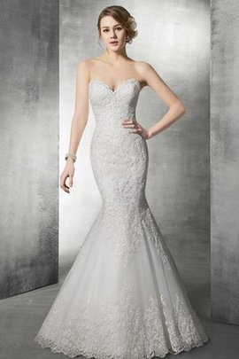 Appliques Lace Fabric Court Train Backless Mermaid Wedding Dress