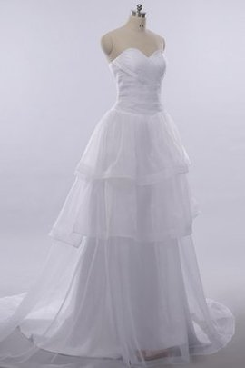 Lace-up Long Floor Length Sweetheart Lace Wedding Dress