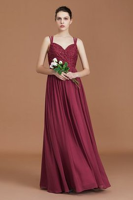 Marvelous Floor Length Princess Lace Sweetheart Zipper Up Sleeveless Bridesmaid Dress