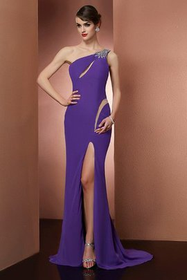 Sleeveless Chiffon Natural Waist Long Sweep Train Evening Dress