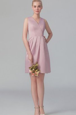 Accented Bow Criss-Cross Short Bridesmaid Dress