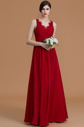 Floor Length Chiffon Zipper Up Princess Ruffles Bridesmaid Dress