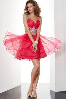 Princess Natural Waist Halter Backless Short Homecoming Dress